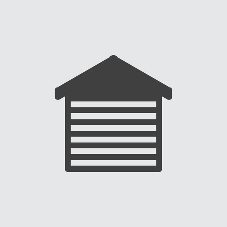 car isolated: Car garage icon illustration isolated vector