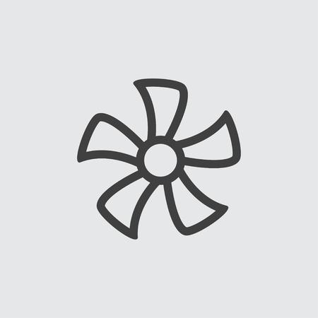 orificio nasal: Fan icon illustration isolated vector