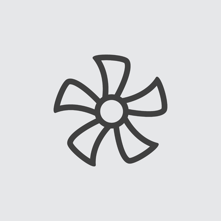 Fan icon illustration isolated vector