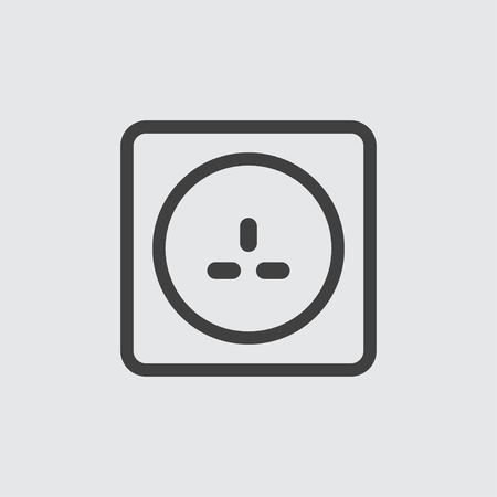 Power socket icon illustration isolated vector