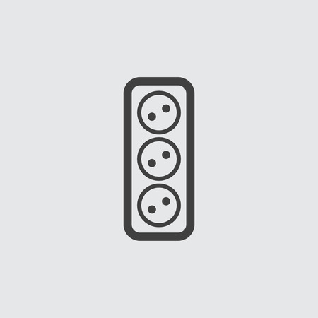 wattage: Power socket icon illustration isolated vector