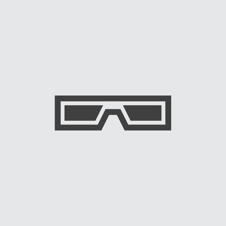 3d glasses icon illustration isolated vector