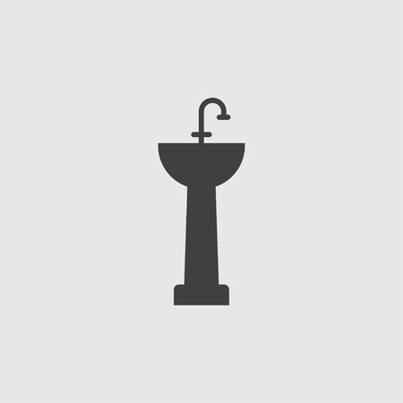 Sink icon illustration isolated vector