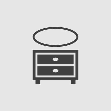 Cupboard icon illustration isolated vector