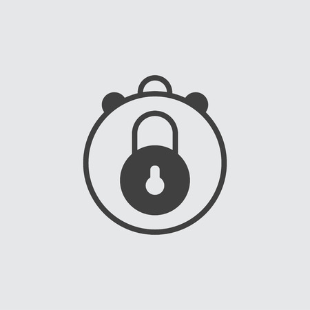 Lock icon illustration isolated vector