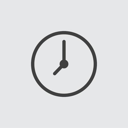 Clock icon illustration isolated vector Ilustração