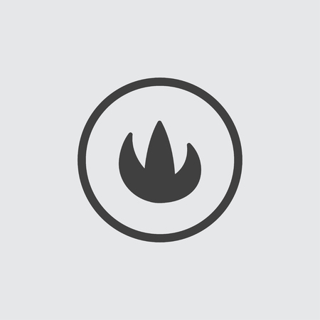 Flame icon illustration isolated vector