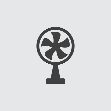 orificio nasal: Ventilador icono ilustración vectorial