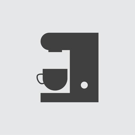 Coffee machine icon illustration isolated vector