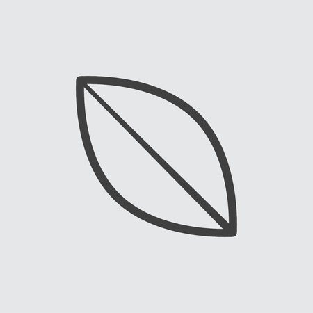Leaf icon illustration isolated vector