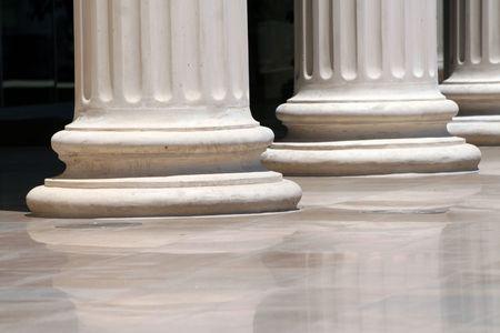 doric: greek doric style columns
