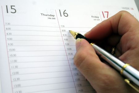 daily: Agenda Stock Photo