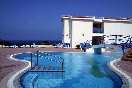 Pool and apartments Stock Photo - 1470267