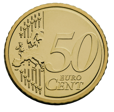 cents: 50 cents  euro coin Stock Photo