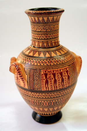 potter: Ancient Greek vase Stock Photo