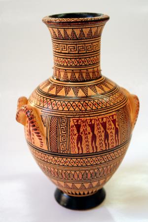 alfarero: Griego antiguo florero Foto de archivo