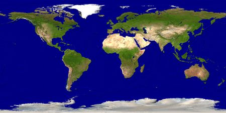 Earth map photo