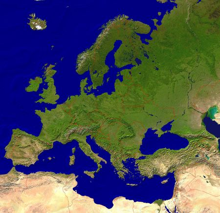 European map photo