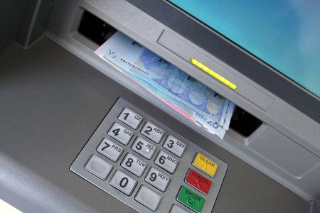 automatic transaction machine: De euros de cajeros autom�ticos