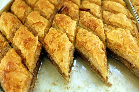 baklawa: Greek delicatessen - baklava sweet  Stock Photo