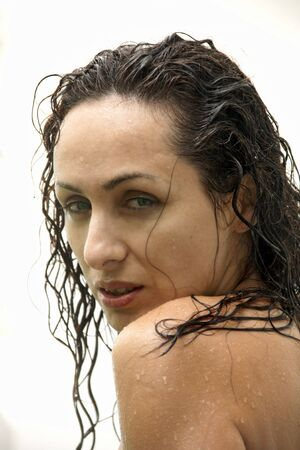 Young sexy woman posing in the rain Stock Photo - 5351729
