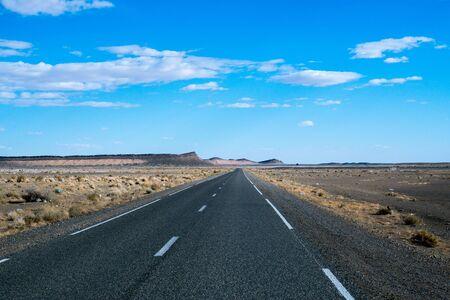 endless: Endless road in Sahara Desert, Africa
