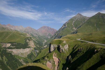 Beautiful landscape, Caucasus Mountains,The Georgian Military Road, Georgia. photo