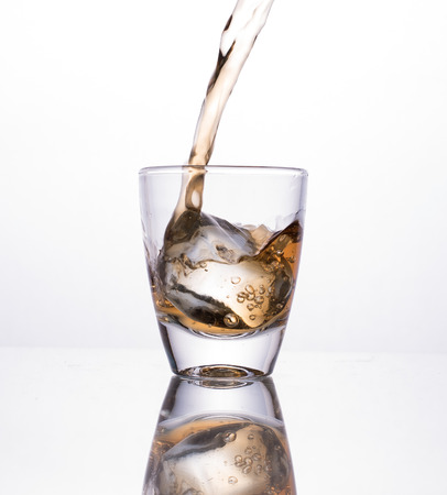 alcoholic beverage: Alcoholic beverage for appetizers and white background