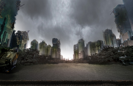 Miasto zniszczone przez wojnę Zdjęcie Seryjne