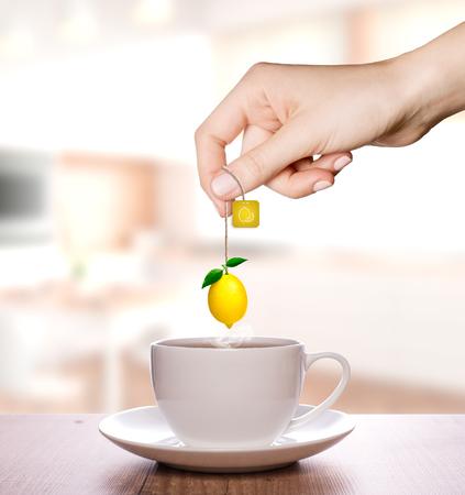 Limon tea in a plain white cup | Fruit Tea