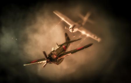 真珠湾攻撃に基づく空中戦 |米国 vs. 日本 写真素材