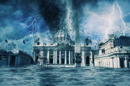 Apocalypse Vatican | Destroyed Фото со стока