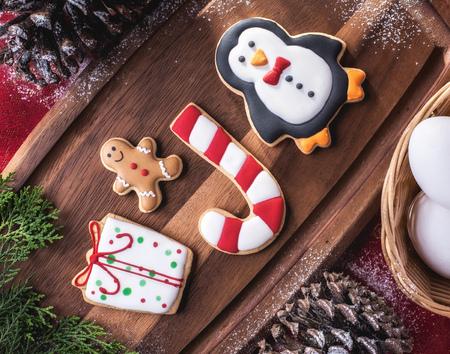 Delicious Christmas Cookies Фото со стока