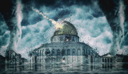 Vernietiging apocalyps Israel (Jeruzalem)