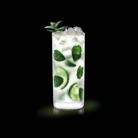 Mojito - Popular Drink on a black background Stock Photo