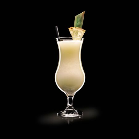 Pina Colada - Popular Drink on a black background