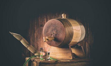 Sugarcane Liquor (Traditional Brazilian cacha?a). Alcoholic beverage made from sugar cane