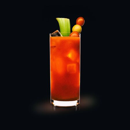 Bloody Mary - Popular Drink on a black background