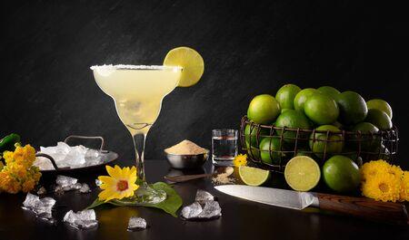 Margarita - Traditional Tequila Lemon Drink - Ingredients