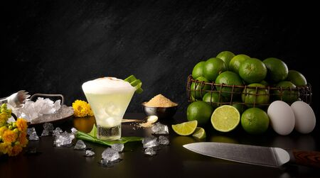 Pisco Sour - Traditional Pisco Lemon Drink - Ingredients