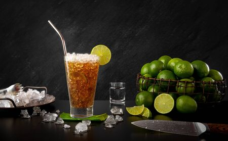 Cuba Libre - Traditional Rum Drink with Lemon and Coke