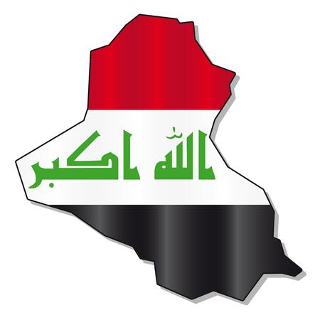 iraqi: Iraqi flag map Illustration