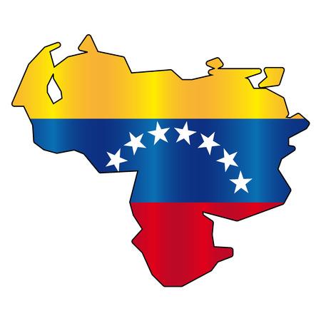 venezuelan: Venezuelan flag map Illustration