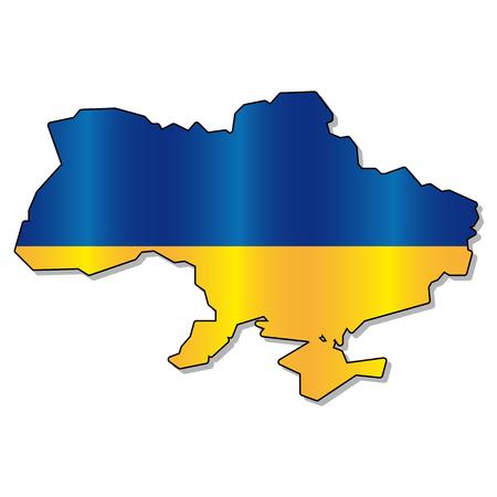 ukrainian flag: Ukrainian flag map