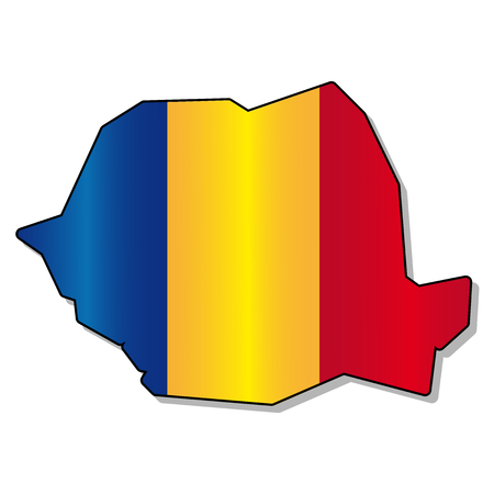 romanian: Romanian flag map