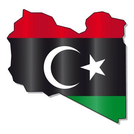 monarchy: Libya flag map