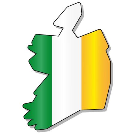 bandera irlanda: Mapa de la bandera de Irlanda