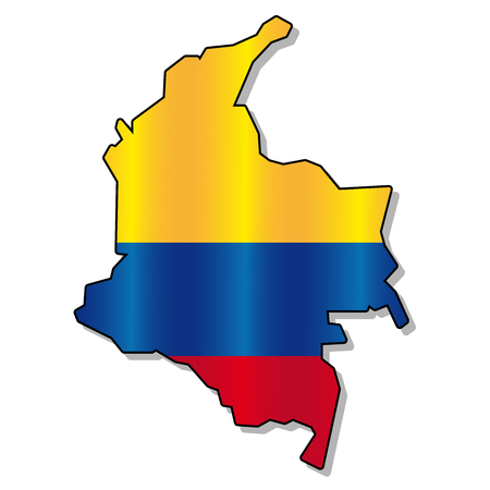 republic of colombia: Colombian flag map