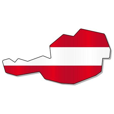 austrian: Austrian flag map