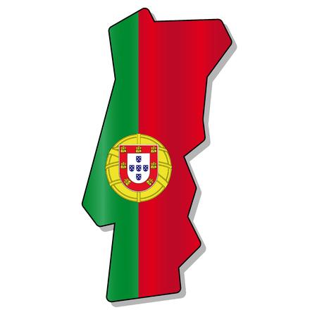 portugal flag: Portugal flag map
